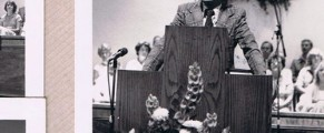 My dad, Pentti Leppanen, preaching in 1980s