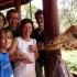 Family in Nairobi at Giraffe Center